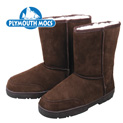 Plymouth Mocs Women's Dark Brown Leather Moccasin Boots - 39.99