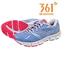 361 Degrees Women's Silver Violation Running Shoes - 33.32