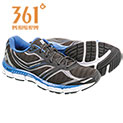 361 Degrees Men's Black Violation Running Shoes - 29.99