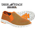 NoSox Men's Orange Mesh Slip-On Shoes - 29.99