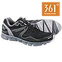 361 Degree Men's Breeze Black Running Shoes - 29.99