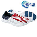 Island Surf Men's Red, White & Blue South Beach Slip On Shoes - 19.99