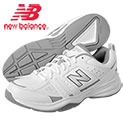 New Balance Men's MX409WT2 White Fitness Shoes - 39.99