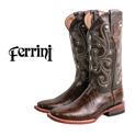 Ferrini Women's Chocolate Brown Gator Boots - 69.99