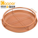 Round Copper Oven Air Fryer Pan - 19.99