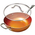 Copper 12 Inch Wok Pan - 29.99