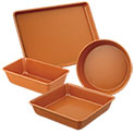 Copper Bakeware Set - 4 Piece - 21.99