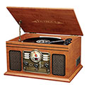 Innovative ITVS-200B 6-in-1 Bluetooth Turntable Entertainment System - 79.99
