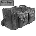 Vintage Leather Duffle Bag - 24.99