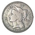 American Coin Treasures 1860's Three Cent Nickel - 49.99