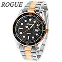 Rogue RG10551 Two-Tone Black Dial Watch - 39.99