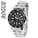 Rogue Men's Black Dial Divers Watch - 33.32
