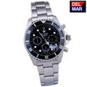 Del-Mar Black Chronograph Watch - 109.99