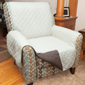 Polyester Reversible Chair Cover - Tan - 22.21
