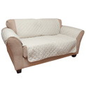 Reversible Loveseat Cover - Tan - 29.99