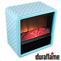 Duraflame DFS-300 Turquoise Personal Fire Cube Electric Heater - 34.99