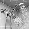 Silver Shower Head & Massager with 59 Inch Hose - 21.99