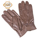 Womens Leather Insulated Gloves - Brown - 19.98