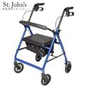 St John's Medical Premium Rolling Walker - Blue - 69.99