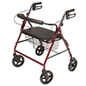 Lumex Imperial Bariatric 4-Wheel Burgundy Rollator - 139.99