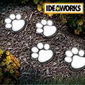 Ideaworks JB7356 Solar Paw Print Path Lights - 4 Pack - 22.21