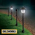 Ideaworks JB8159 Solar Post & Chain Light Set - 24.99