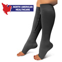 Zipper Compression Socks - Black - 19.99