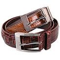 Stacy Adams Croc Print Belts - 14.99
