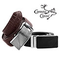 Caribou Creek Black and Brown Leather Crocodile Belts - 19.99