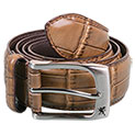 Stacy Adams Men's Cognac Crocodile Print Belt - 9.99