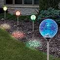 Sol Mar Crackled Solar Color Changing Lights - 24.99
