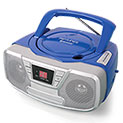 Impecca Blue Portable Bluetooth Boombox with CD Player - 39.99
