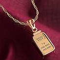 1-gram Gold Ingot Pendant - 155.54