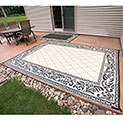 Caribou Creek Black & Tan JD-0811 Outdoor Rug - 5 x 8' - 24.99