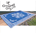 Blue/White Outdoor Rug - 8x11 - 29.99