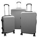 Karriage-Mate Silver Hard Luggage 3 Piece Set - 89.99