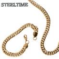 Mens Cuban Necklace/Bracelet Set - 29.99