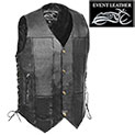 10-Pocket Leather Motorcycle Vest - 39.99