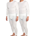 Men's White Performance Wicking Thermal Set - 2 Pack - 29.98
