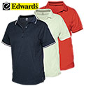 Edwards Ladies Tipped Collar Polo Shirts - 14.99