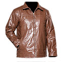 Men's Patch Leather Coat - 33.32
