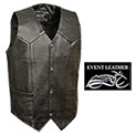 Milwaukee Leather Men's Black Classic Leather Vest - 29.99