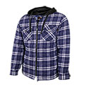 Men's Quilted Flannel with Hood - 24.99