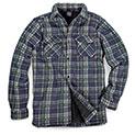 Men's Quilt-Lined Plaid Fleece - Blue/Green - 29.99