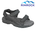 Black Leather Strap Sandal - 24.99