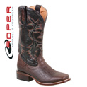 Roper Caiman Print Boots - Black/Brown - 111.1