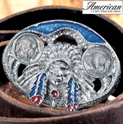 Buffalo Nickel Enamel Belt Buckle - 27.99