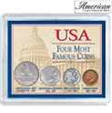 USA Four Most Famous Coins - 22.99
