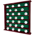 49 Golf Ball Mahogany Wall Cabinet - 49.99