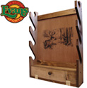 Wooden 4-Gun Rack with Storage Compartment - 59.99